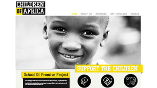 Non-Profit website templates - Feed The World