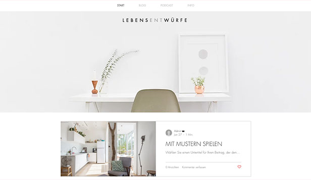 Mode & Schönheit website templates – Stil & Design-Blog