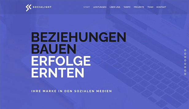 Alle website templates – Werbeagentur