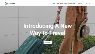 Online Store website templates - Luggage Store