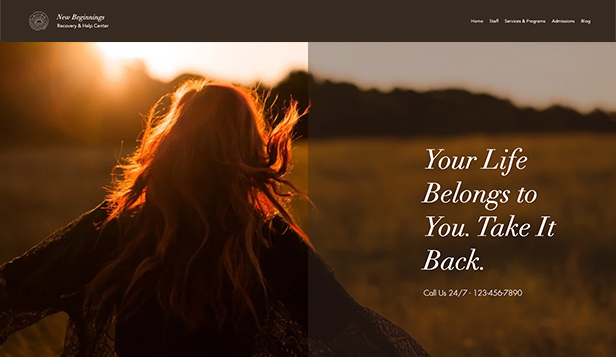 Helse website templates – Rehabiliteringssenter
