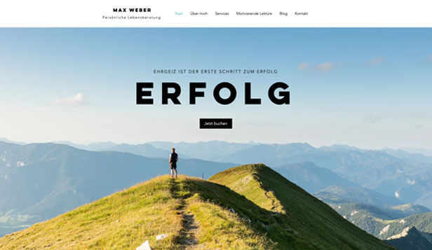 Alle website templates – Erfolgscoach