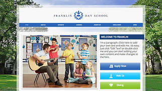 Education website templates - Country Day School