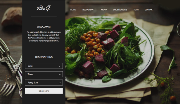 Restaurants en eten website templates – Restaurantsite