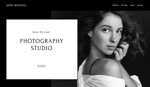 Komerce a tvorba website templates – Photography Studio