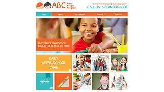 Education website templates - After School Program