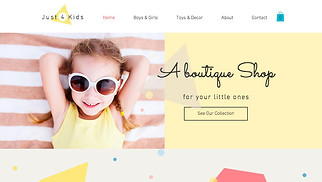 Kids & Babies website templates - Kids Clothing Store