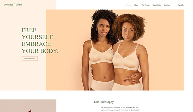 Mode website templates – Lingerieboetiek