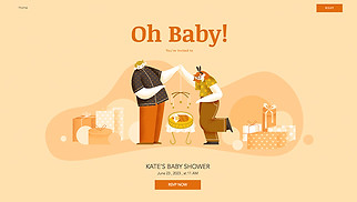 Events website templates - Baby Shower