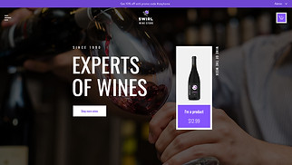 Restaurants & Food website templates - Wine Store