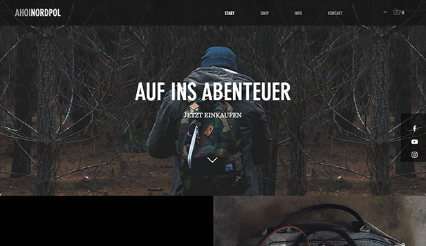 Stil & Mode website templates – Outdoor-Rucksäcke