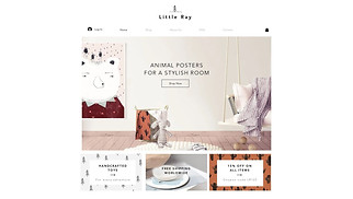 Online Store website templates - Kids Lifestyle Store