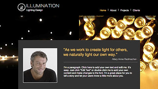 Event Production website templates - Lighting Design