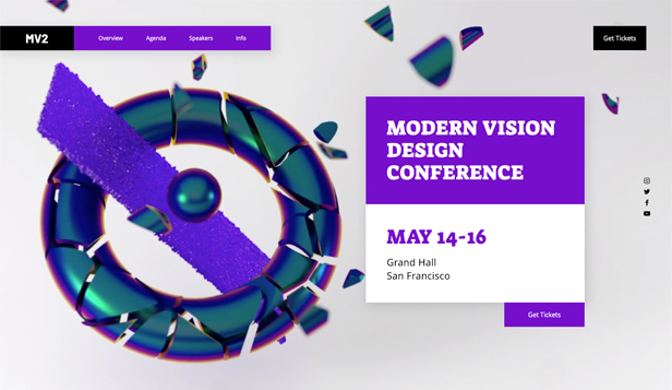 Conferenties en bijeenkomsten website templates – Creatieve conferentie