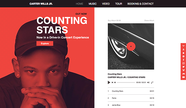 Musik website templates – Rapper