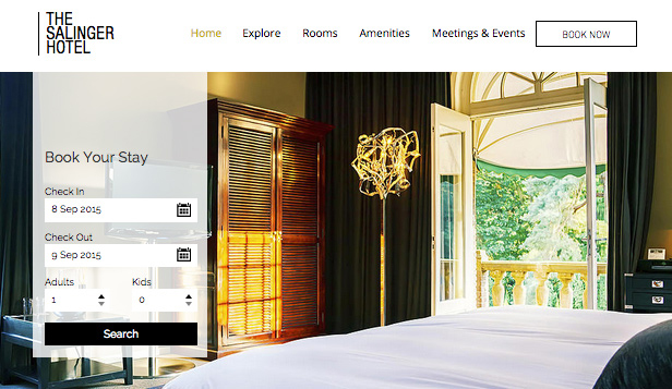 Resor & Turism website templates – Modernt hotell