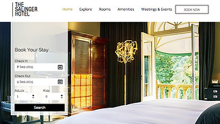 Travel & Tourism website templates - Modern Hotel