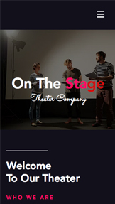 Imprezy website templates – Teatr