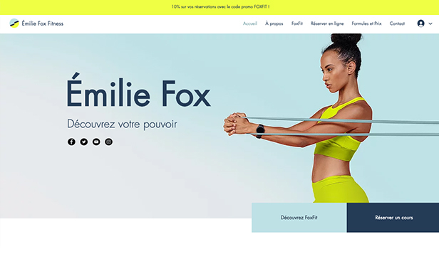 Sport et fitness website templates – Professeur de fitness