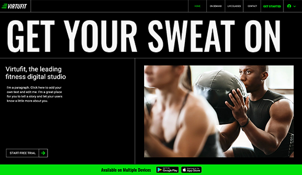 スポーツ&フィットネス website templates – Online Fitness Program