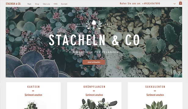 Alle website templates – Blumenladen
