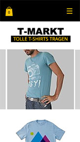 Mode website templates – T-Shirt-Markt