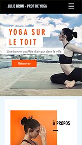 Sport et fitness website templates – Cours de Yoga