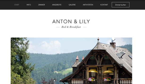 Reisen & Tourismus website templates – Bed & Breakfast