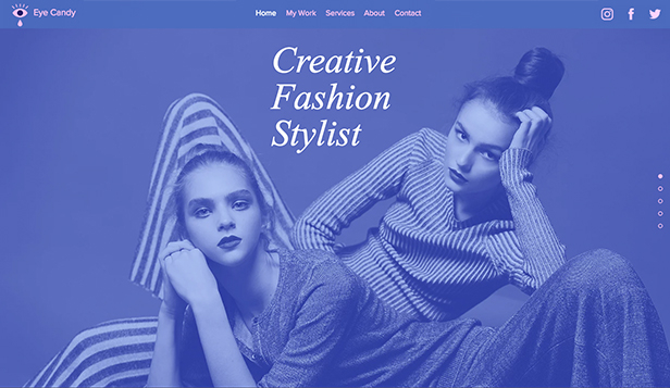 Mode website templates – Kreative Modestylistin
