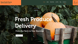 Restaurants & Food website templates - Farm Produce Delivery