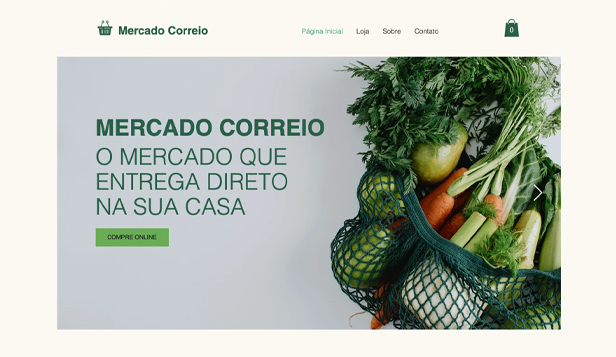 Novo website templates – Mercado online