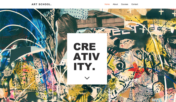 Scholen en universiteiten website templates – Kunstschool