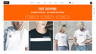 Fashion & Clothing website templates - T-Shirt Store