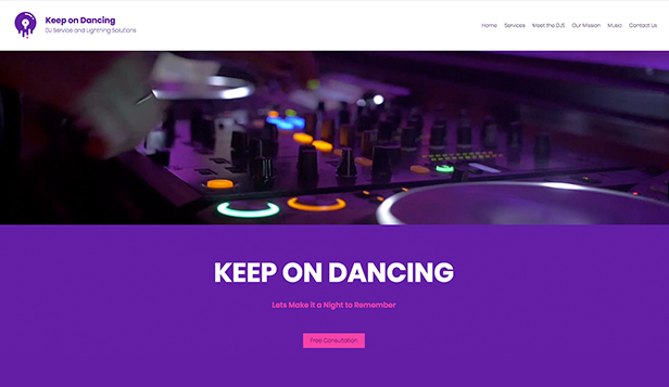 Hudba website templates – DJ