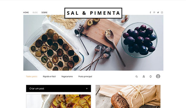 Blog website templates – Blog de Comida