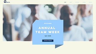 Events website templates - Company Event