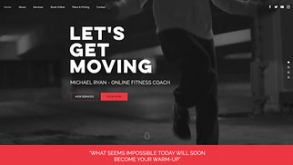 Most Popular website templates - Fitness Coach
