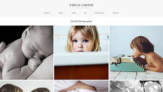 Photography website templates - Family Photographer