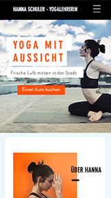 Wellness website templates – Yogakurse