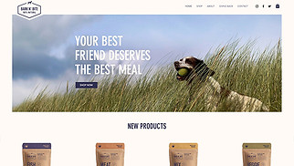 Online Store website templates - Dog Food Online Store