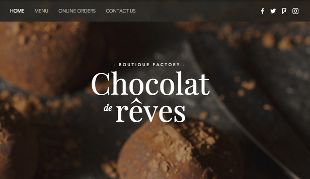 Catering og kokk website templates – Chocolatier
