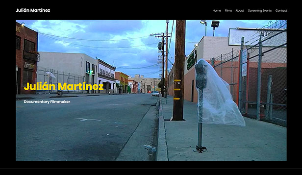 TV&映画 website templates – Documentary Filmmaker