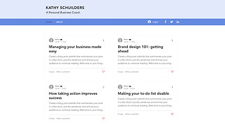 News & Business website templates - Coaching Professional