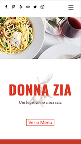 Restaurante website templates – Culinária Italiana