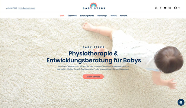 Alle website templates – Baby Consultant