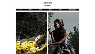 Photography website templates - Fashion Photographer