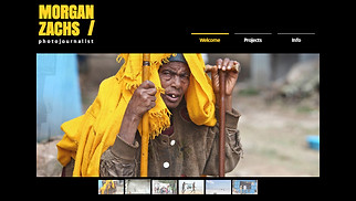 Photography website templates - Photojournalist