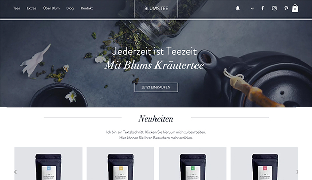 Essen & Trinken website templates – Teestube