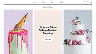 Cafe & Bakery website templates - Celebration Cakes