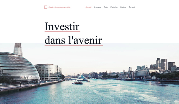 Droit et Finance website templates – Fond d'investissement